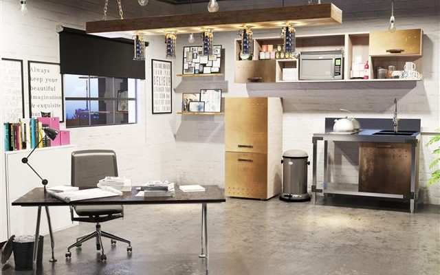 Retro Office Kitchen Art, Office Kitchen Furniture